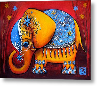 The Littlest Elephant Metal Print by Karin Taylor