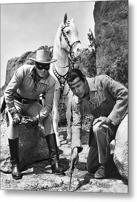 The Lone Ranger And Tonto Metal Print by Underwood Archives
