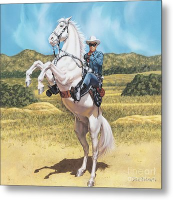 The Lone Ranger Metal Print by Dick Bobnick