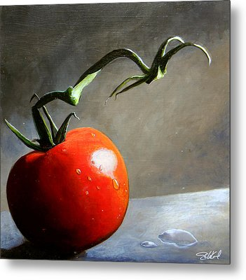 The Lone Tomato Metal Print by Steve Goad