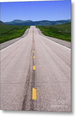The Long Road Ahead Metal Print by Olivier Le Queinec