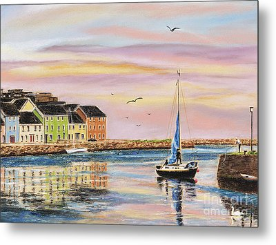 The Long Walk- Evening Sky Metal Print by Vanda Luddy