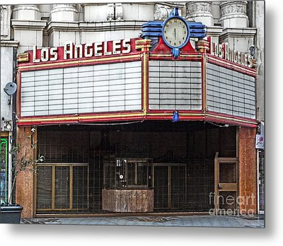 The Los Angeles Theatre Marquee Metal Print by Gregory Dyer