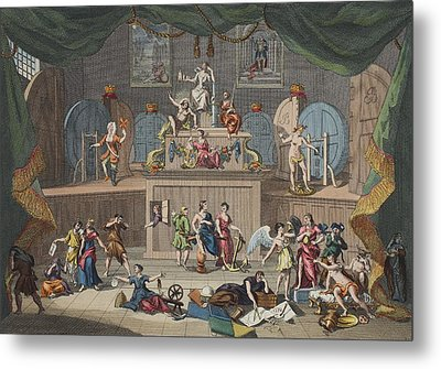 The Lottery, Illustration From Hogarth Metal Print by William Hogarth