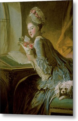 The Love Letter Metal Print by Jean Honore Fragonard