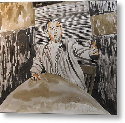 The Macher Metal Print by Esther Newman-Cohen
