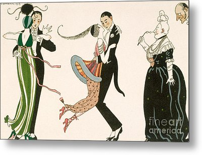 The Madness Of The Day Metal Print by Georges Barbier