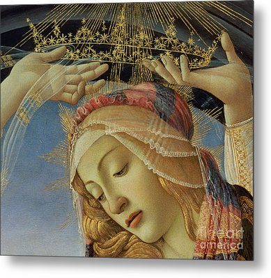 The Madonna Of The Magnificat Metal Print by Sandro Botticelli