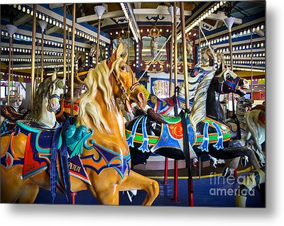 The Magical Machine - Carousel Metal Print by Colleen Kammerer