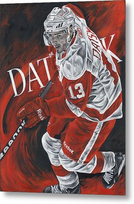 The Magician - Pavel Datsyuk Metal Print by David Courson