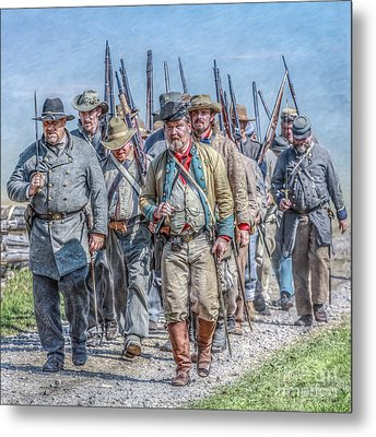 The March From Cashtown Metal Print by Randy Steele