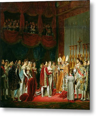 The Marriage Of Napoleon I 1769-1821 And Marie Louise 1791-1847 Archduchess Of Austria, 2nd April Metal Print by Georges Rouget