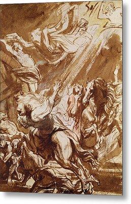 The Martyrdom Of Saint Catherine Metal Print by Sir Anthony van Dyck