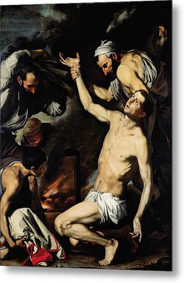 The Martyrdom Of Saint Lawrence Metal Print by Jusepe de Ribera