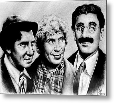 The Marx Brothers Metal Print by Andrew Read