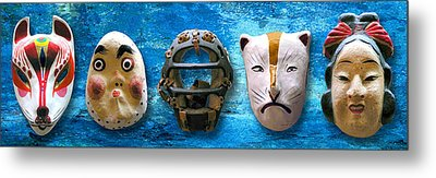 The Mask Collection Metal Print by Ron Regalado