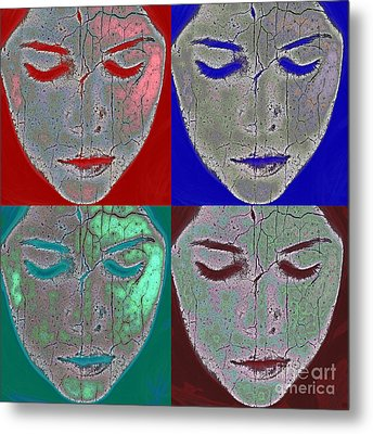 The Mask Metal Print by Stelios Kleanthous