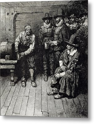 The Master Caused Us To Have Some Beere, From Harpers Magazine, 1883 Litho Metal Print by Howard Pyle