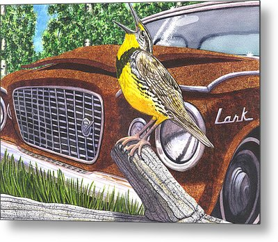 The Meadowlarks Metal Print by Catherine G McElroy