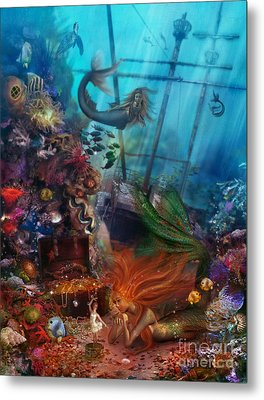 The Mermaids Treasure Metal Print by Aimee Stewart