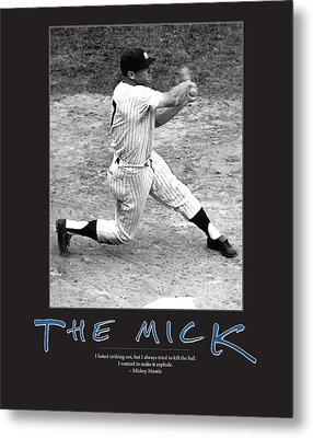 The Mick Mickey Mantle Metal Print by Retro Images Archive
