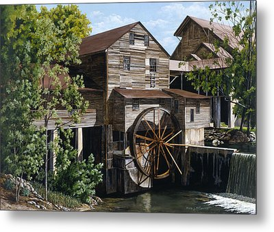 The Mill At Pigeon Forge Metal Print by Marla J McCormick
