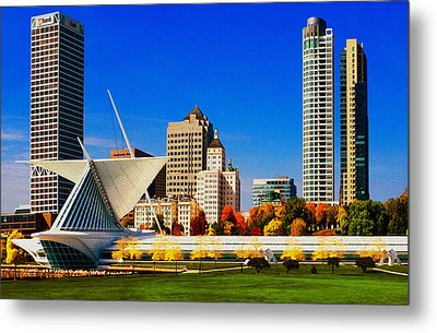 The Milwaukee Art Museum Metal Print by Jack Zulli
