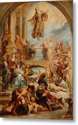 The Miracles Of Saint Francis Of Paola Metal Print by Peter Paul Rubens