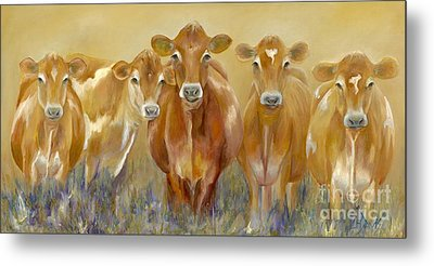 The Morning Moo Metal Print by Catherine Davis