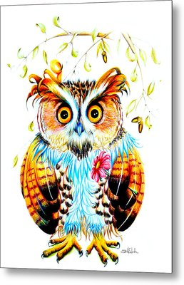 The Most Beautiful Owl Metal Print by Isabel Salvador
