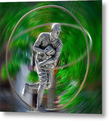 The Motion Of The Pitch Metal Print by Bill Cannon