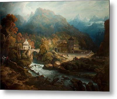 The Mountains Of Vietri Metal Print by Philip Reinagle