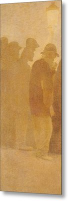 The Mouthful Of Bread, Waiting In Line, Study For Charity Metal Print by Fernand Pelez
