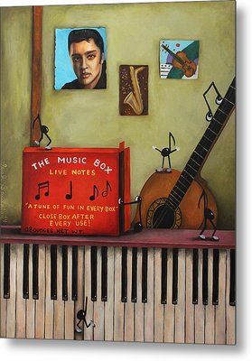 The Music Box Metal Print by Leah Saulnier The Painting Maniac