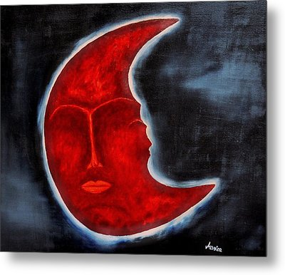 The Mysterious Moon - Original Oil Painting Metal Print by Marianna Mills