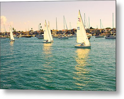 The Mystery Of Sailing Metal Print by Angela A Stanton