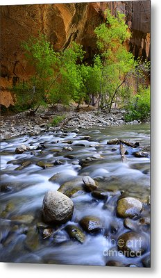 The Narrows A Place To Pause Metal Print by Bob Christopher