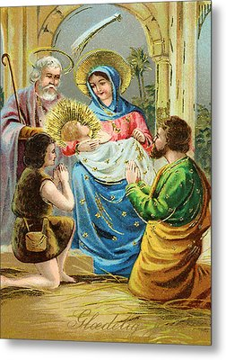 The Nativity Metal Print by Bill Cannon