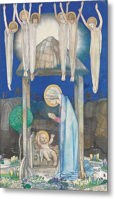 The Nativity Metal Print by Edward Reginald Frampton