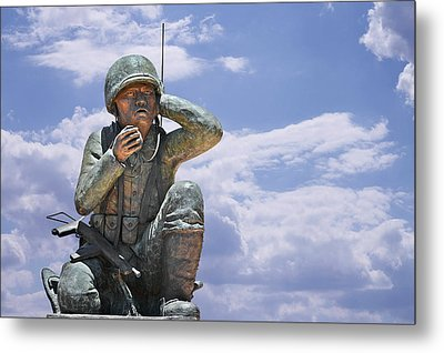 The Navajo Code Talkers Metal Print by Christine Till