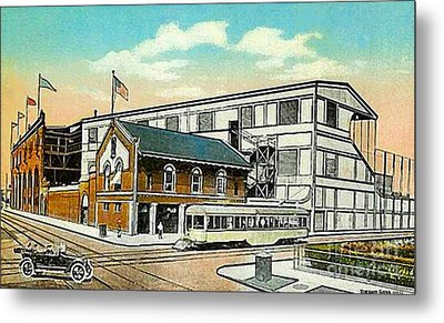 The Negro League Park Stadium In Cleveland Oh Around 1915 Metal Print by Dwight Goss