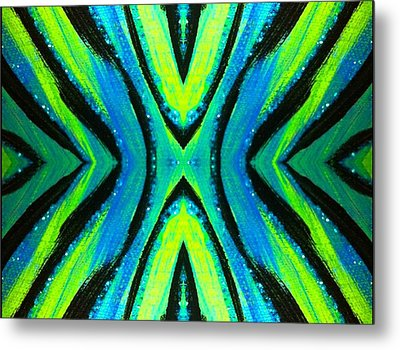 The Neon Zebra Metal Print by Drew Goehring