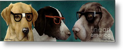The Nerd Dogs... Metal Print by Will Bullas