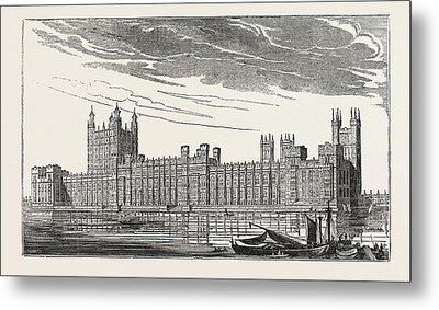 The New Houses Of Parliament, Westminster Metal Print by Litz Collection