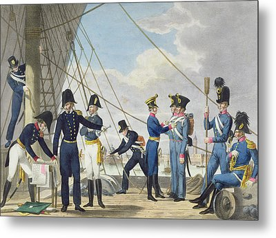 The New Imperial Royal Austrian Navy Metal Print by Phillip von Stubenrauch