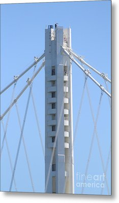 The New San Francisco Oakland Bay Bridge 7d25449 Metal Print by Wingsdomain Art and Photography