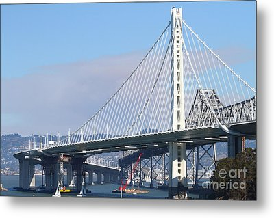 The New San Francisco Oakland Bay Bridge 7d25464 Metal Print by Wingsdomain Art and Photography