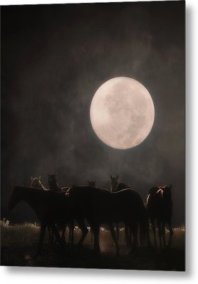 The Night Shift Metal Print by Ron  McGinnis