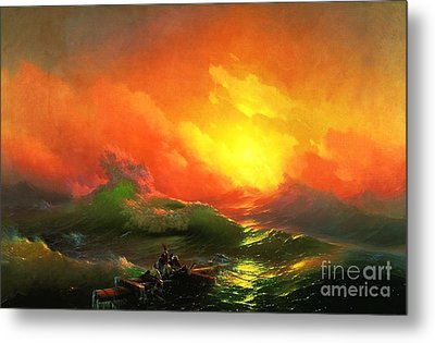 The Ninth Wave Metal Print by Pg Reproductions