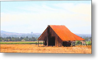 The Old Barn 5d24404 Long Metal Print by Wingsdomain Art and Photography
